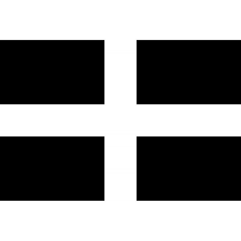 Cornwall Saint Piran Flag 8 Foot X 5 Foot