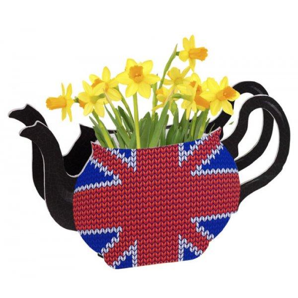 Union Jack Teapot Vase