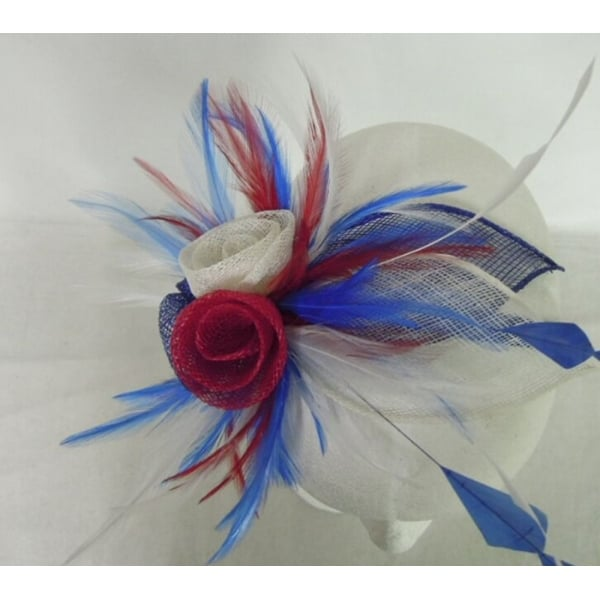 Union Jack Red White and Blue Patriotic Fascinator 0a7324949da