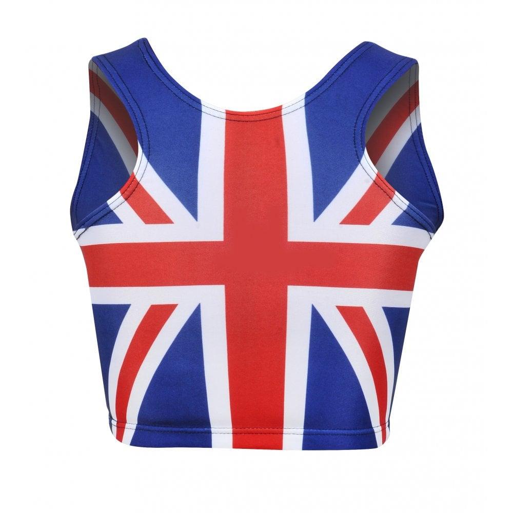 Union Jack Ladies Sports Crop Top
