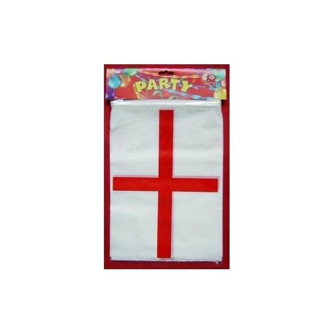 Union Jack Wear St George Plastic Bunting 10m ENGLAND
