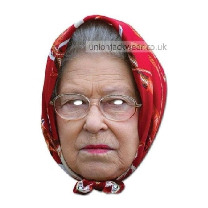 Union Jack Wear HRH The Queen with Headscarf Mask