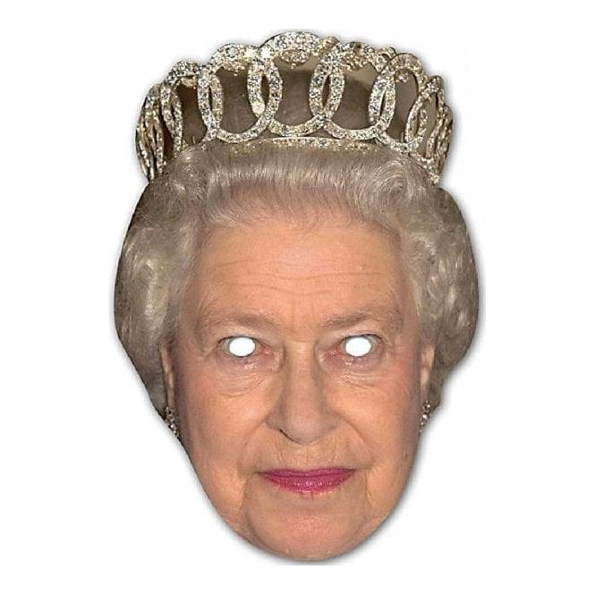 HRH The Queen Mask with tiara