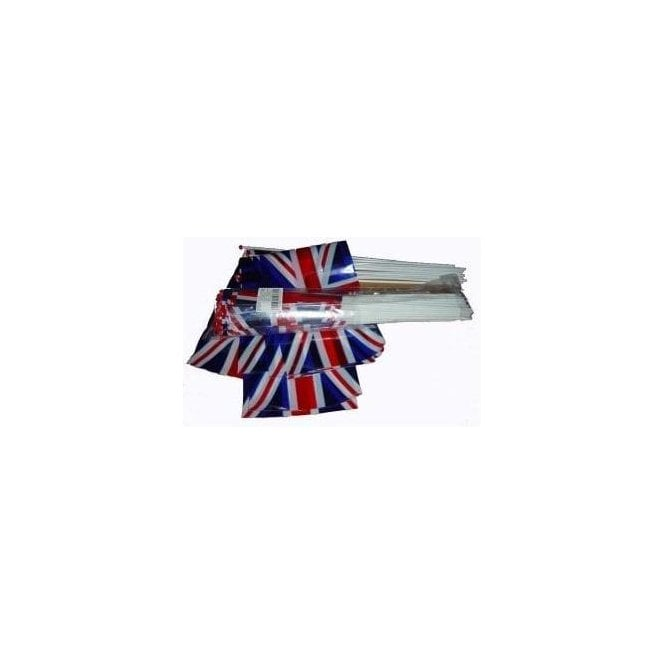 Union Jack Wear Bumper Pack of 50 Value Union Jack Hand Flags
