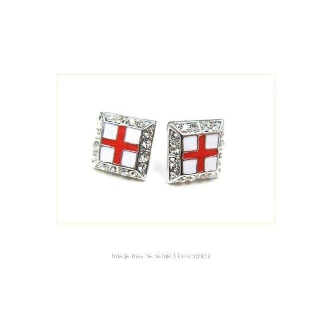 St George Cross Flag Earrings