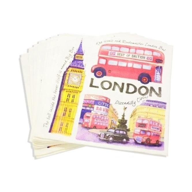 Union Jack Wear Iconic London Napkins - British Themed Party Napkins