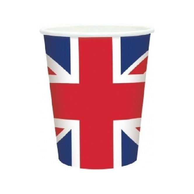 Union Jack Wear Union Jack Plastic Cups x 20 VE Day Street Party?