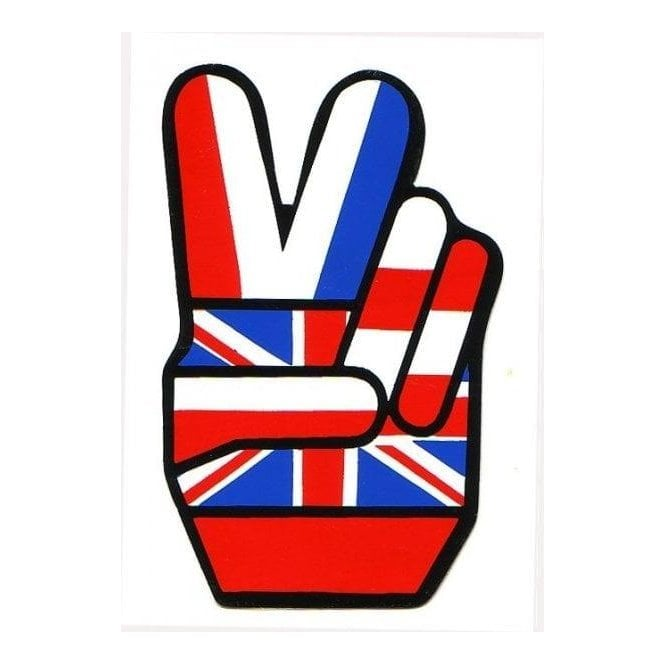 Union Jack Wear Union Jack Cool Britannia - V for Victory - Sticker - 10 x 6 cm