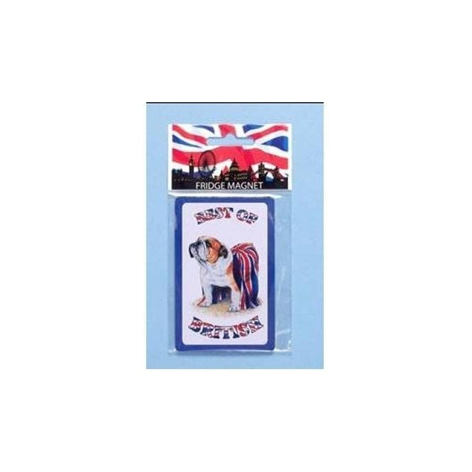 Union Jack Wear British Bulldog Fridge Magnet