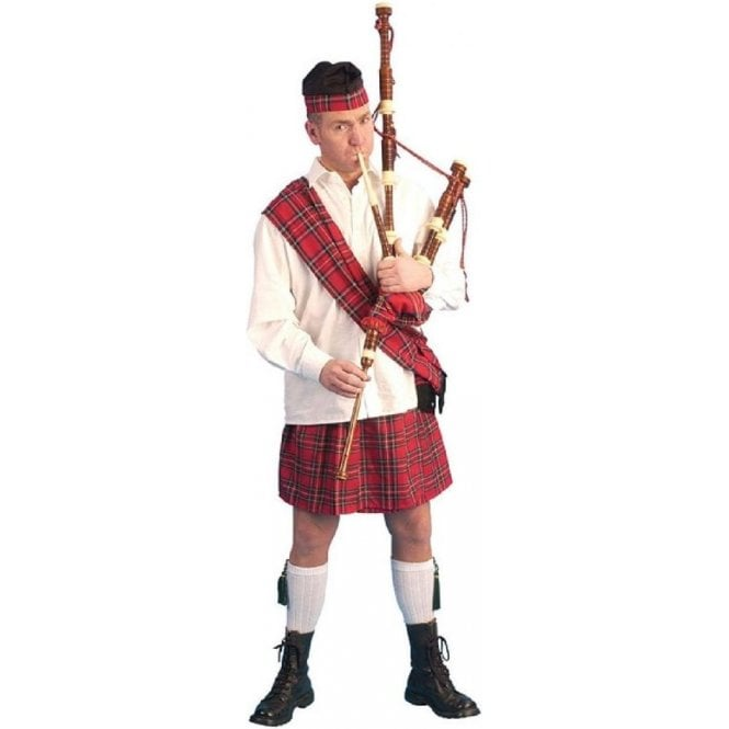 Scotsman Kilt with Sash Fancy Dress Kit