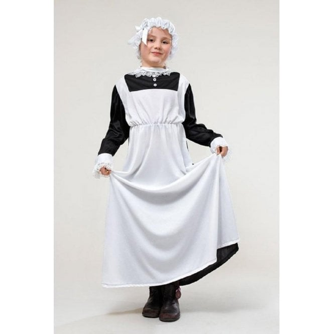 Union Jack Wear Fancy Dress Girls Victorian Maid Costume