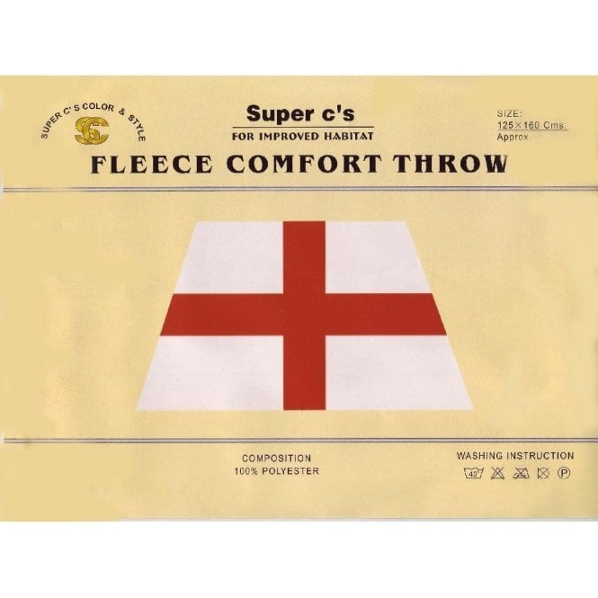 Union Jack Wear England St George Fleece Comfort Throw / blanket - car or picnic