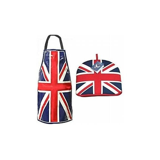 Union Jack Wear Union Jack Tea Cosy, Pot Holder and PVC Apron