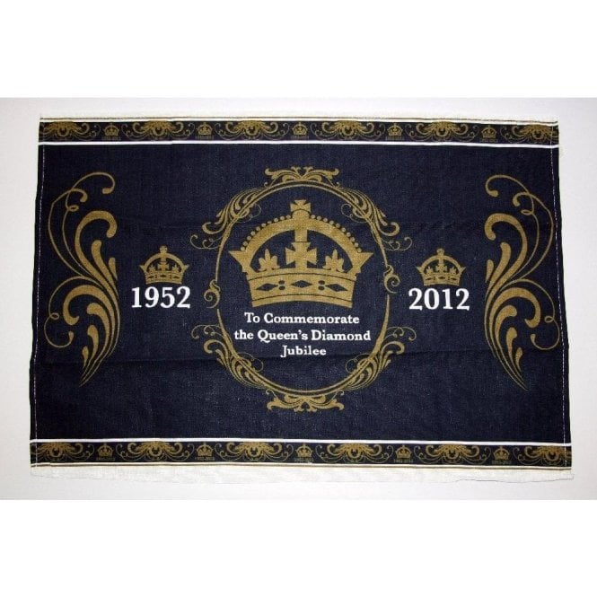 Queen's Diamond Jubilee Commemorative Tea Towel