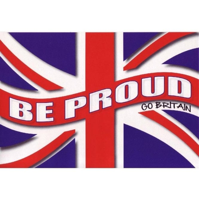 Union Jack Wear Be Proud - Go Britain Union Jack Sticker
