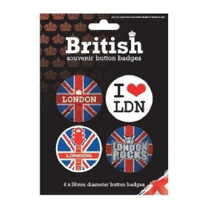 Union Jack Wear Union Jack London Badges
