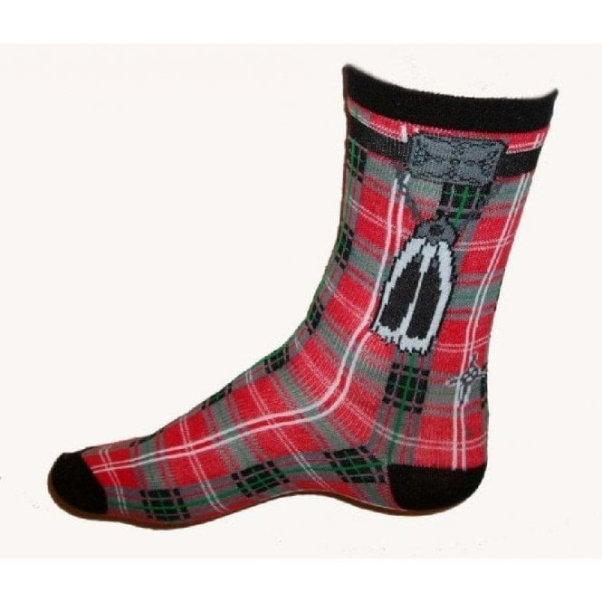 Union Jack Wear Mens Tartan Kilt ankle socks