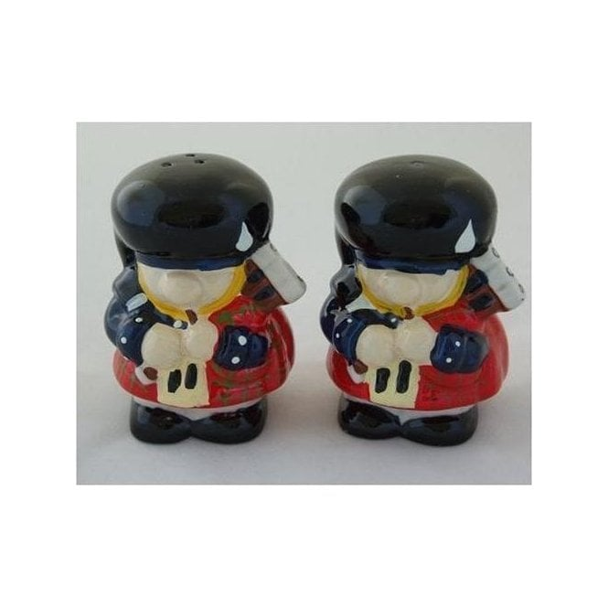 Scottish Piper Salt & Pepper Pots