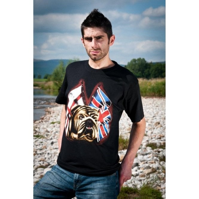 Union Jack St George Bulldog T shirt
