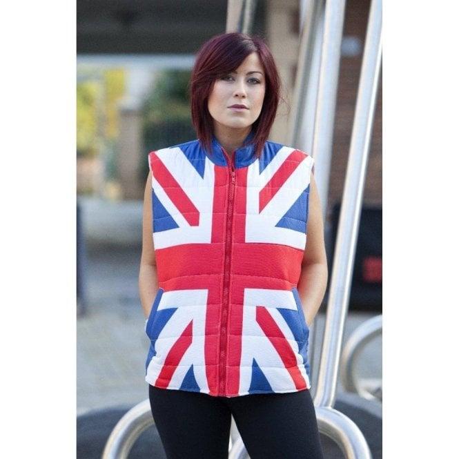 Union Jack Wear Union Jack Body Warmer Gillet Ladies