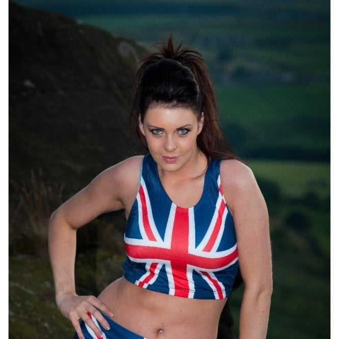 Union Jack Wear Union Jack Ladies Sports Crop Top