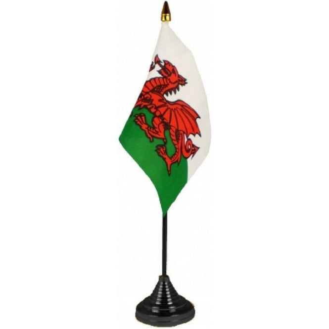 Union Jack Wear Wales table Flags - pack of 12