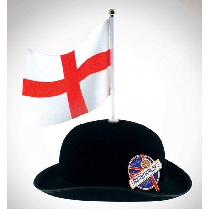 Union Jack Wear Great Britain Bowler with St George Flag - England