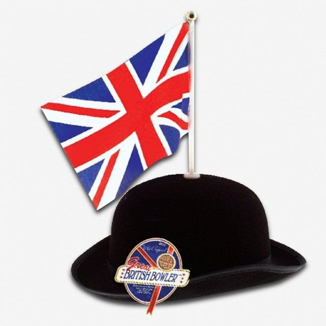 Union Jack Wear Great British Bowler with Union Jack Flag