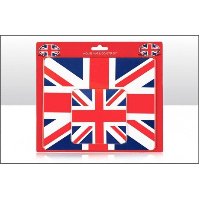 Union Jack Mouse Mat with Coaster