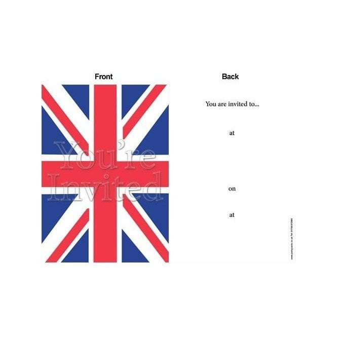 Union Jack Wear Union Jack Party Invites Invitations with envelopes - 8