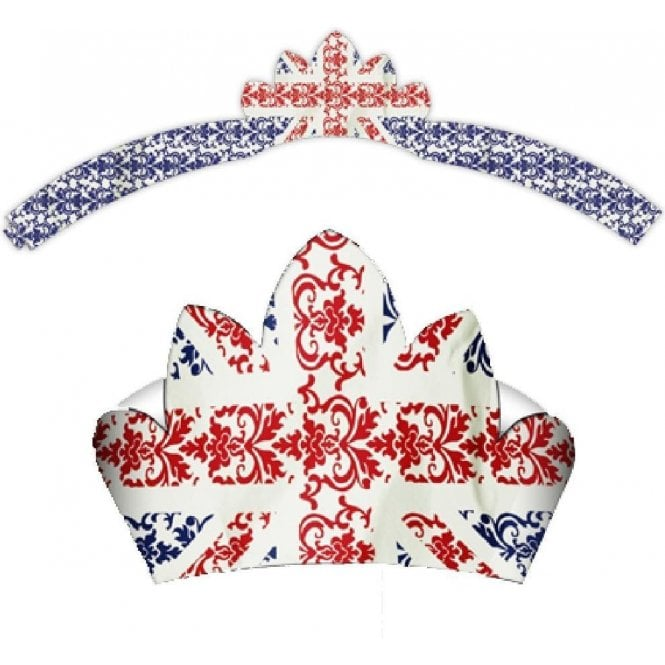 Union Jack Party Tiara 6 Pack