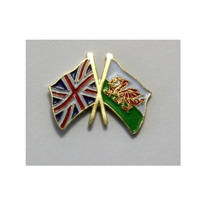Union Jack / Wales Friendship Badge