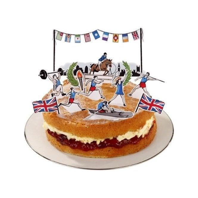 Union Jack Wear British Cake Topping Decoration