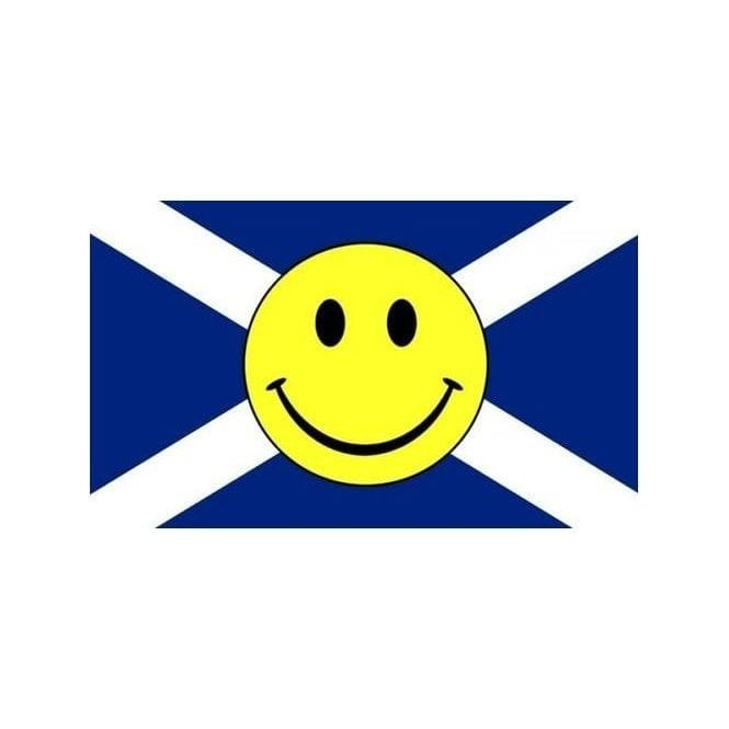 Union Jack Wear Scotland St Andrews Smiley Face 5' x 3' Flag