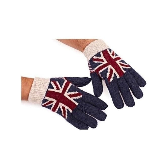 Union Jack Knitted Thermal Gloves