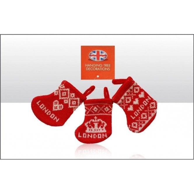 Union Jack Wear Knitted Christmas Stocking - Tree Decorations