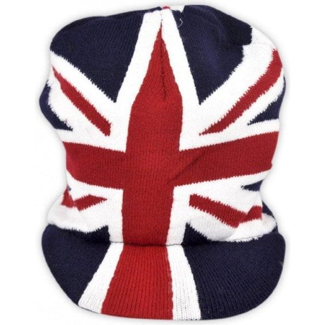 Union Jack Wear Union Jack Peaked Beanie Hat