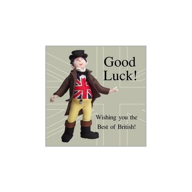 Union Jack Wear Best of British Good Luck Card