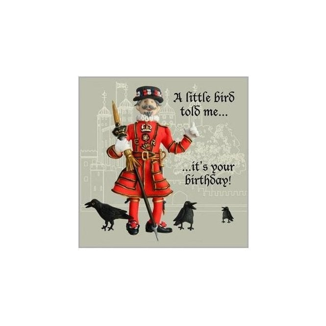 Union Jack Wear Beefeater Birthday Card