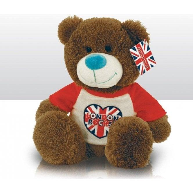 Union Jack Wear London Rocks Heart Teddy Bear