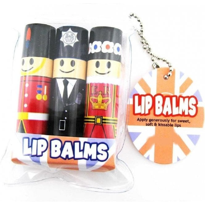 London Character Lip balm - Pack of 3