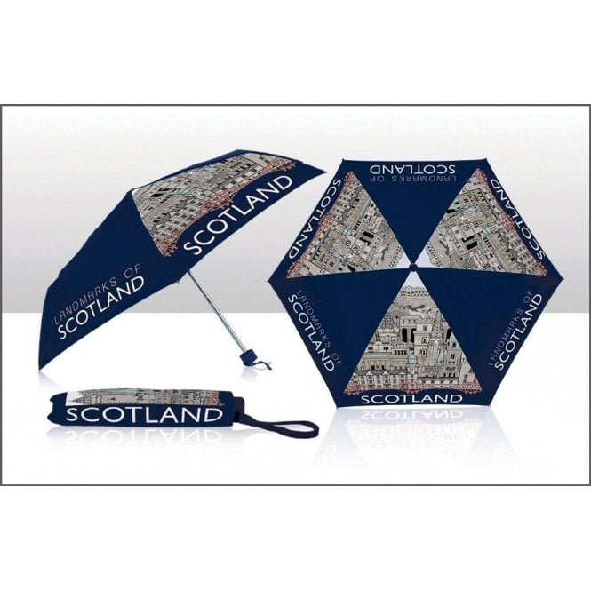 Designer Scotland Umbrella - Landmarks of Scotland