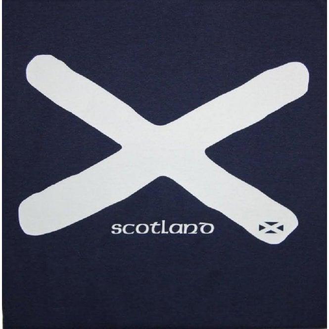 Union Jack Wear Scotland Saltire St Andrews Flag Adult T shirt