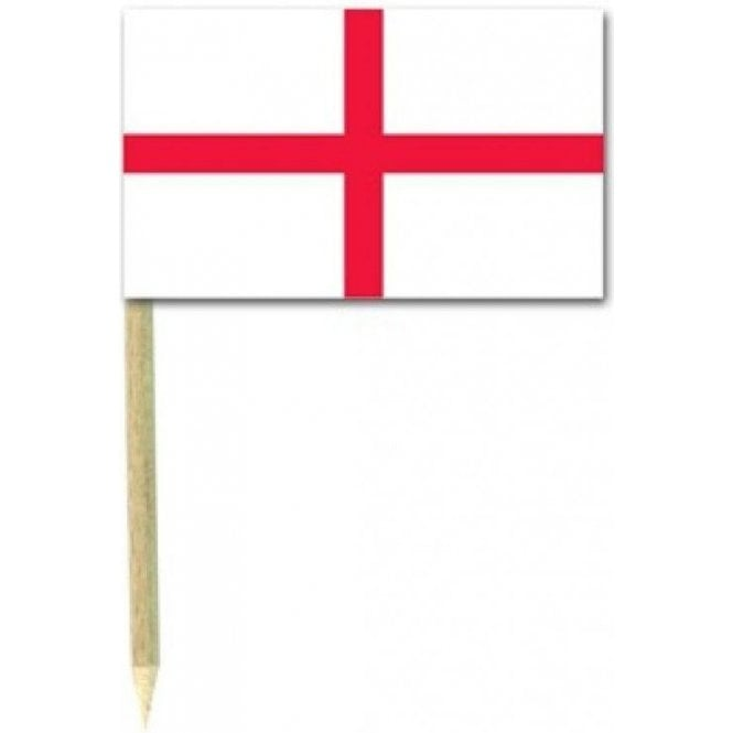 England St George Flag Party picks - pack of 50