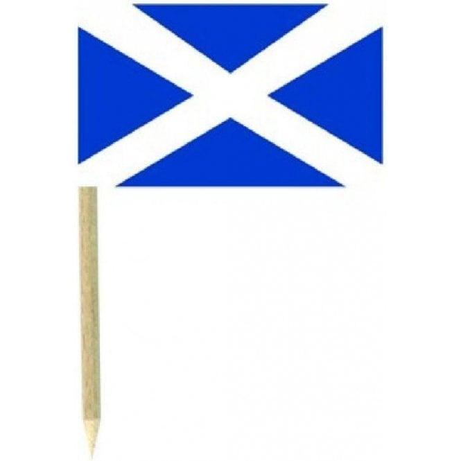 Union Jack Wear Scotland Flag Party picks Pack of 50