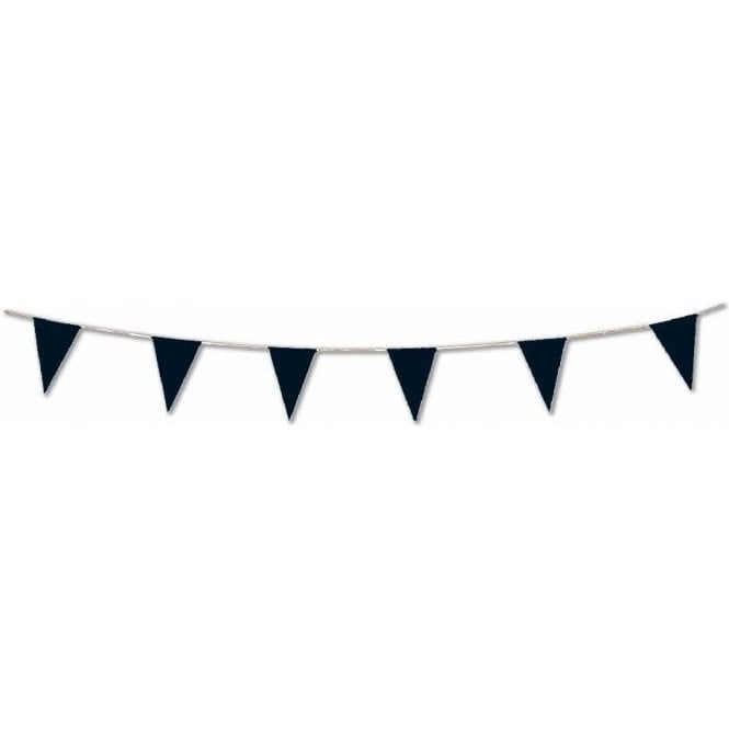 Union Jack Wear Black Pennant Bunting 5m ( 17 feet ) for indoor or outdoor use