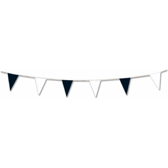 Black and White Pennant Bunting 5m ( 17 feet )