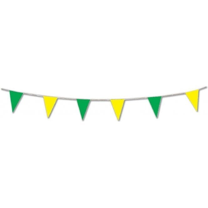 Union Jack Wear Yellow & Green Pennant Bunting 10 Metres