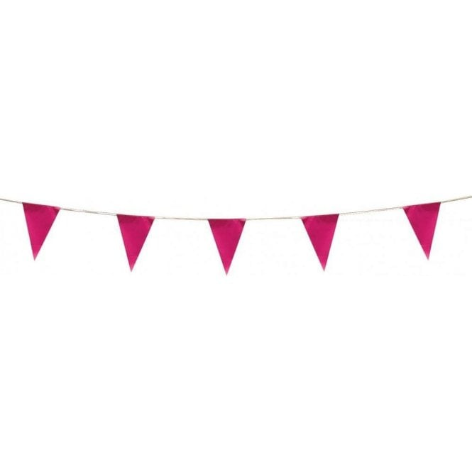 Union Jack Wear Pink Pennant Bunting 5m ( 17 feet )
