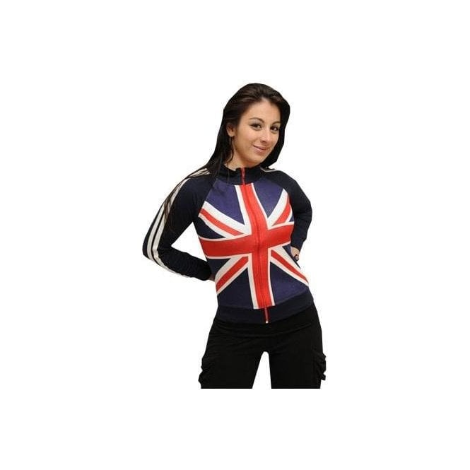 Union Jack Wear Union Jack Thin Ladies Zipped Top